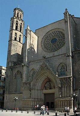 """sobor santa maria del mar v barselone - Собор """"Santa Maria del Mar"""" в Барселоне"""